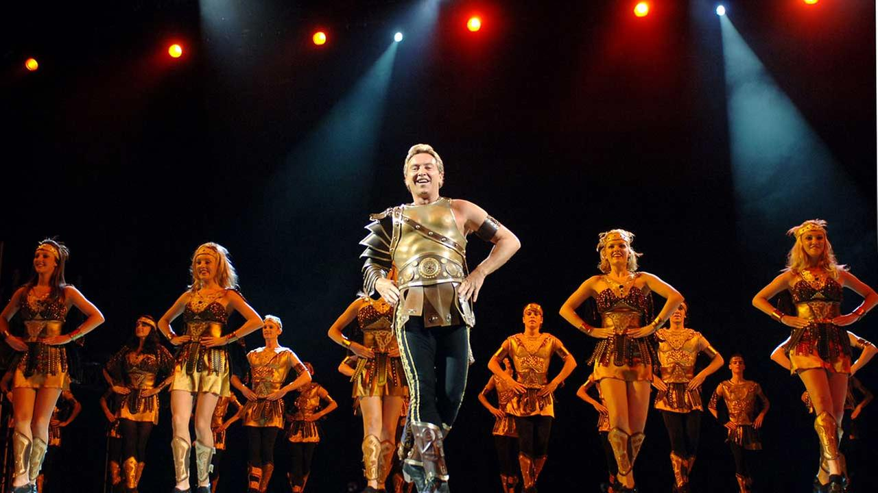 Irish American dancer Michael Flatley, known for his works River Dance and Lord of the Dance, during a U.S. tour at Madison Square Garden in New York on Sept. 27, 2005.