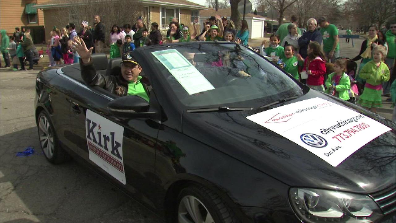Senator Mark Kirk was among a big crowd that turned out for the 12th annual Northwest Irish Parade Sunday morning.