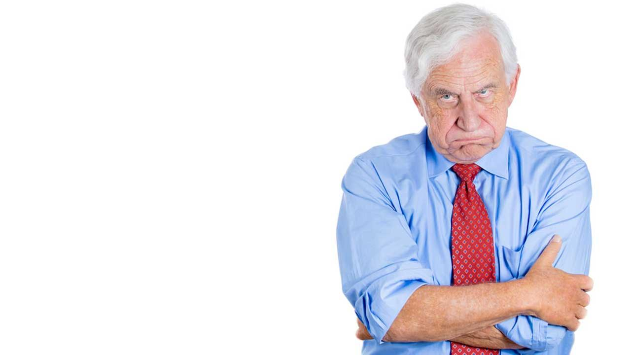 Grumpy old men not so grumpy, study shows