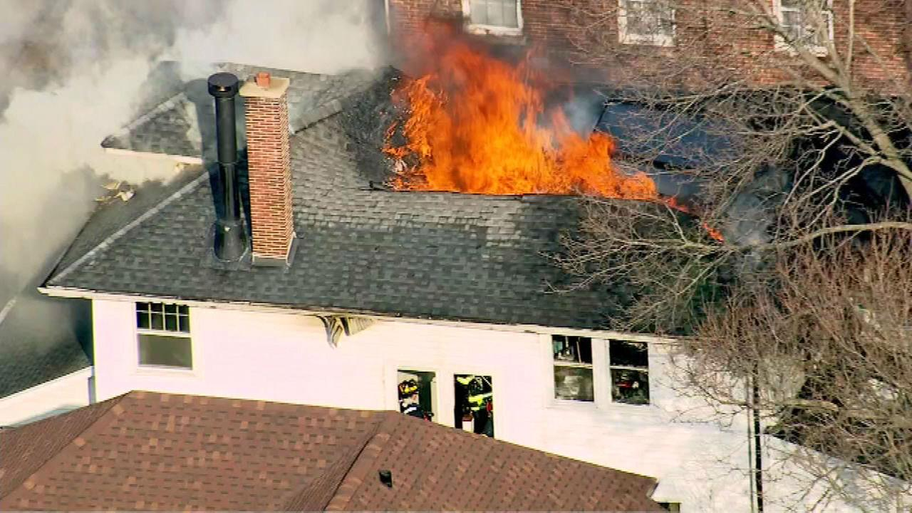 Evanston house fire