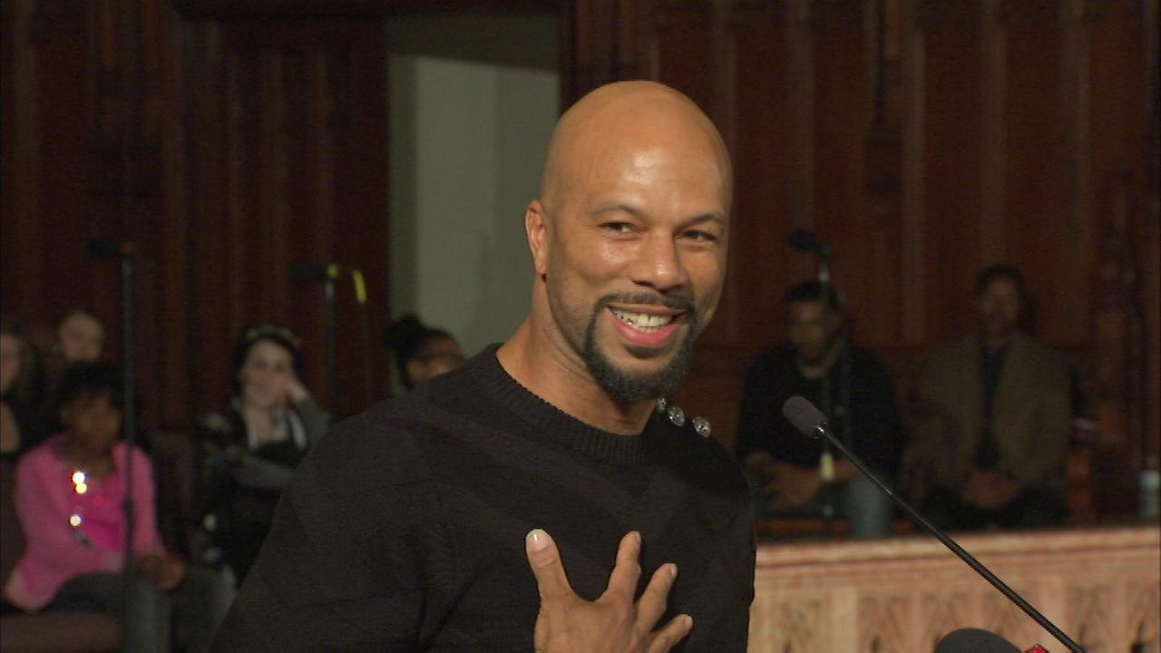 Recent Academy Award-winner Common took part in St. Sabinas African American lecturers series Friday night.