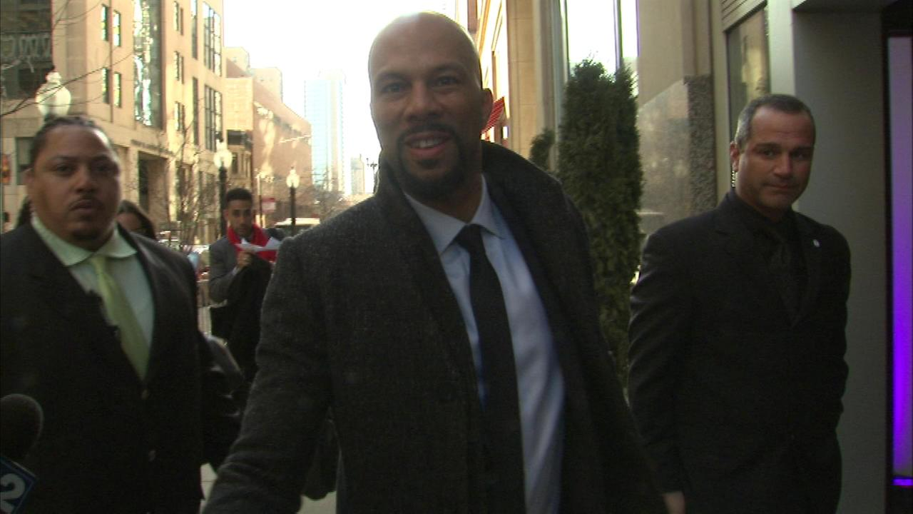 Academy Award winning singer and Chicago native Common arrives at his foundations gala event Saturday night.