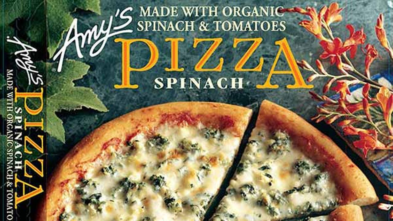 Amys Kitchens spinach pizza is among the products the company is recalled on March 23, 2015 because they may contain spinach contaminated with listeria.