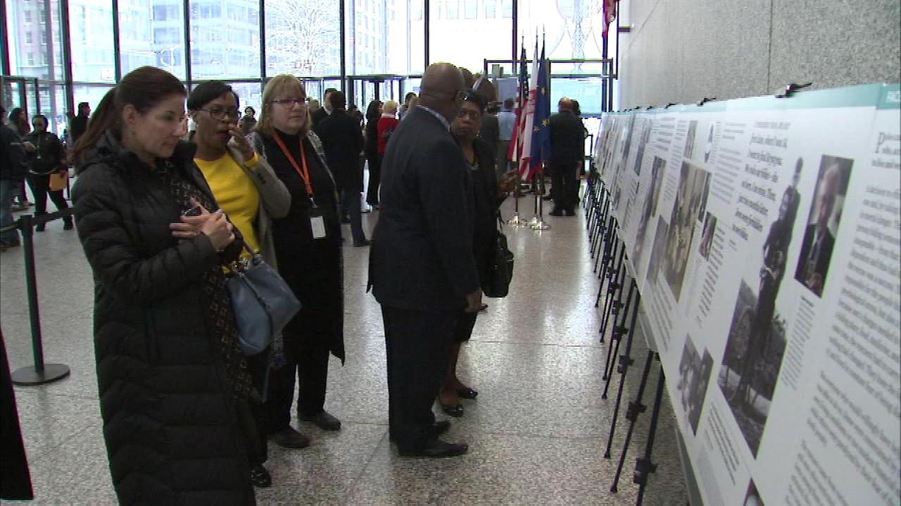 You can see the exhibit in the east lobby of the Daley Center through Friday.