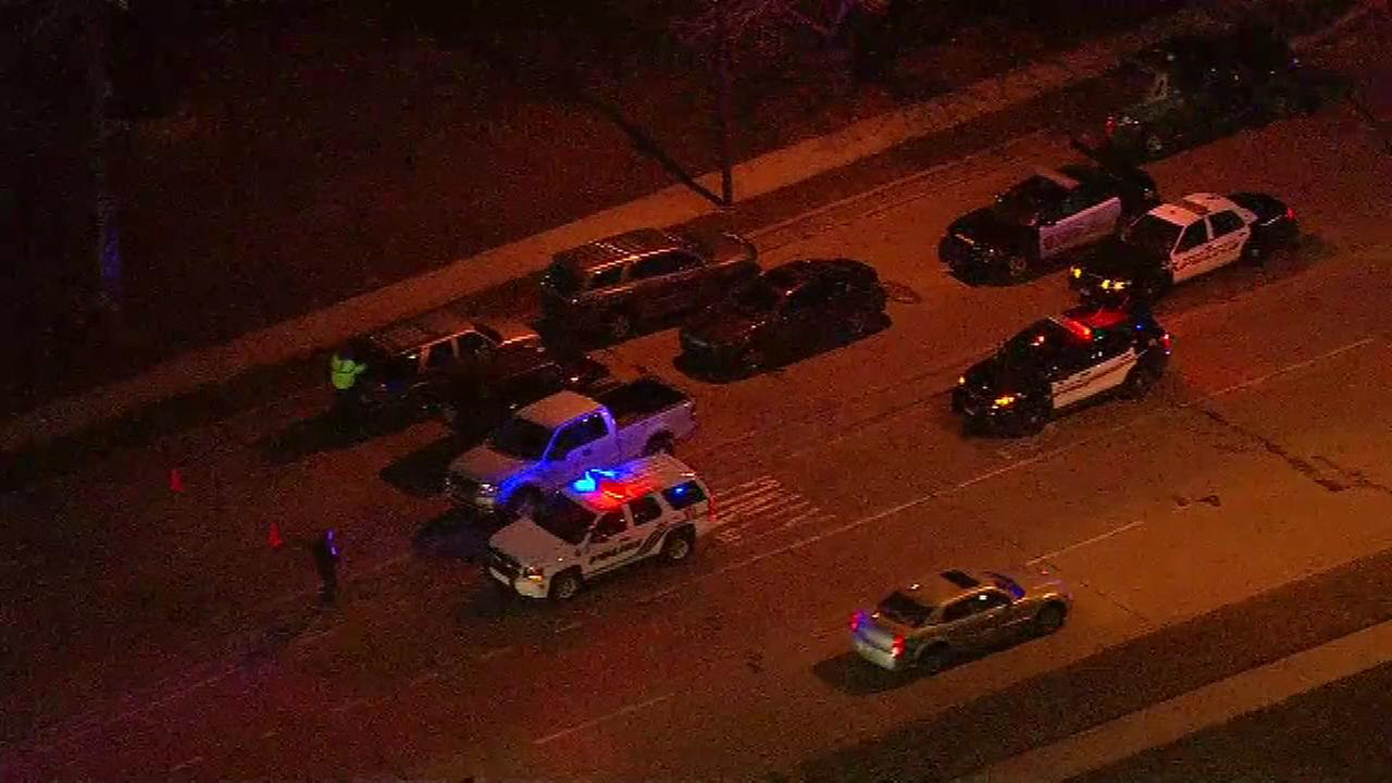 A police officer was injured in a car crash in south suburban Hazel Crest on Friday night.