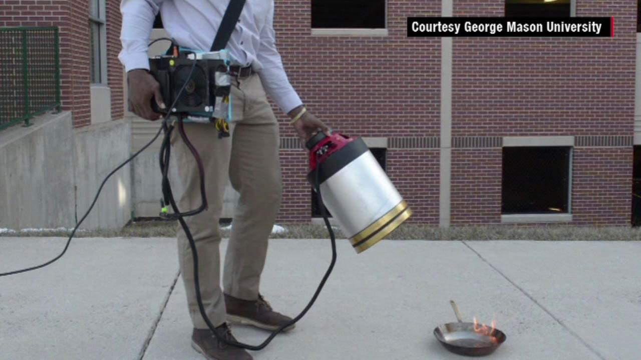 Students use sound waves to extinguish fire