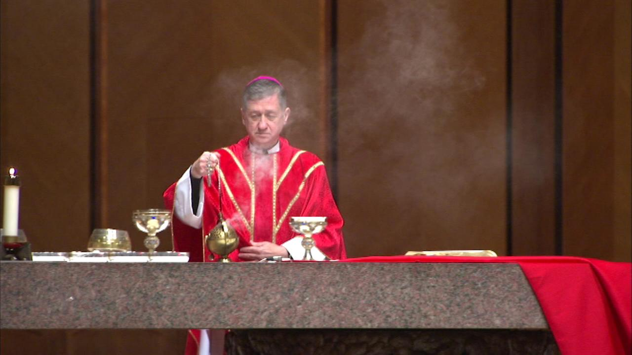 Archbishop Blase Cupich After celebrated his first Palm Sunday Mass as head of Chicagos archdiocese at Holy Name Cathedral.