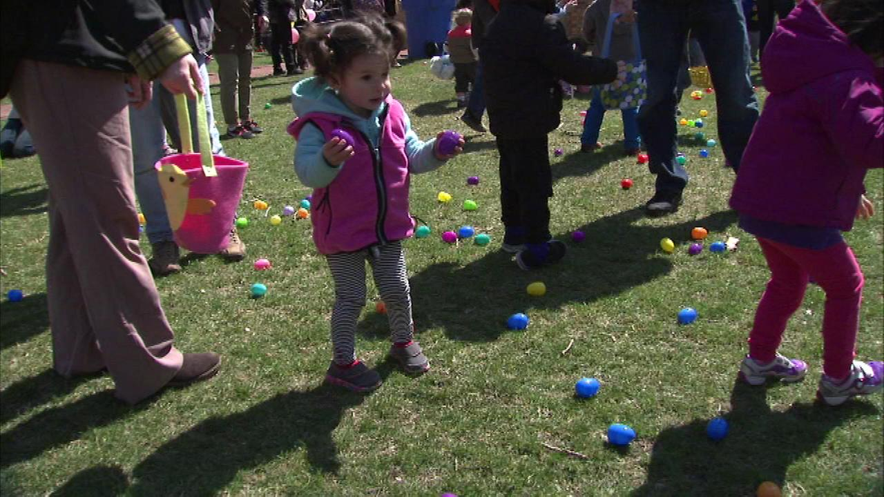 The Prairie District Neighborhood Alliance partnered with the Chicago White Sox to host an egg hunt in the South Loop Saturday.