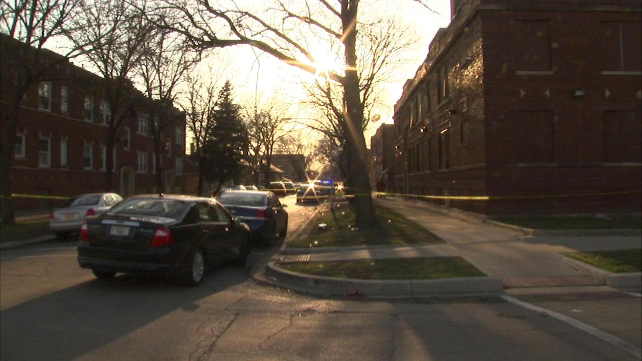 Chicago Police officers shot a man they say pointed a gun at them on the citys South Side Saturday.