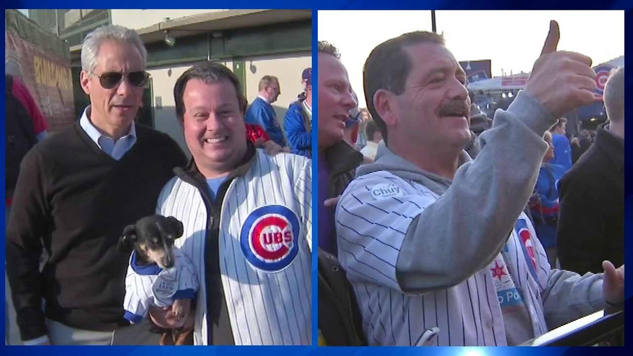 Mayor runoff candidates attend Cubs game 2 days before election