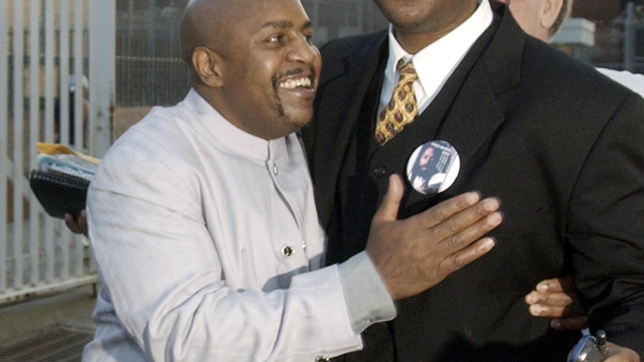 (FILE) Nathson Fields after his release from Cook County Jail in 2003.