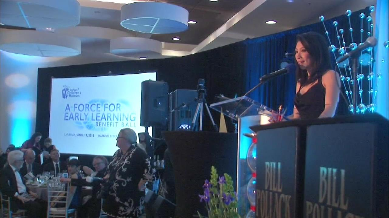 ABC7 Eyewitness News anchor Judy Hsu served as emcee of the DuPage Childrens Museums annual benefit ball Saturday night.