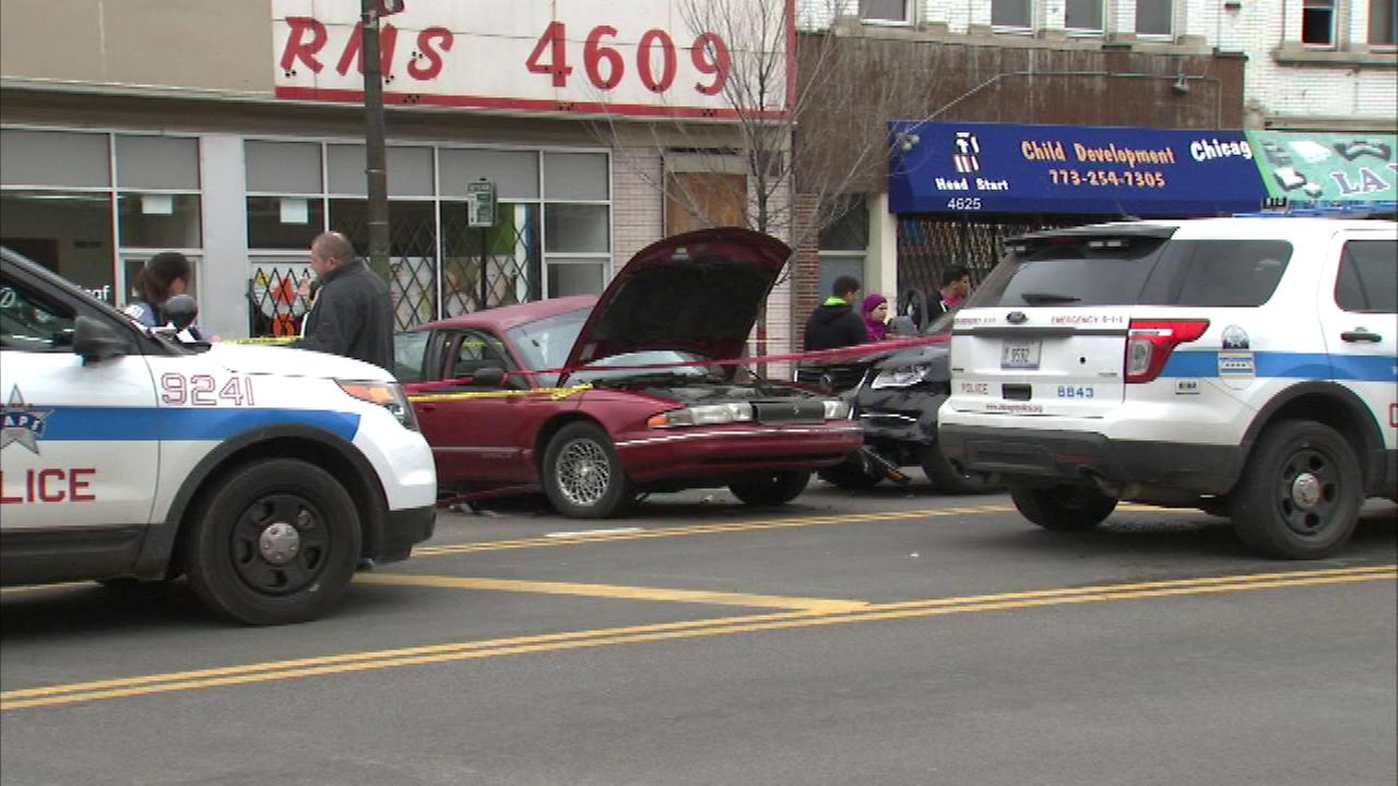 A man was killed and another injured in a crash on the citys South Side Sunday afternoon.
