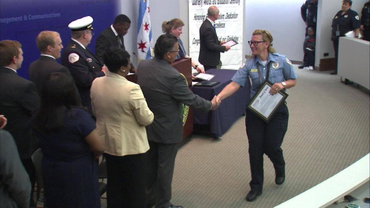 Awards were given at the Officer of Emergency Management and Communications on Wednesday to call takers, dispatchers, traffic management and others.