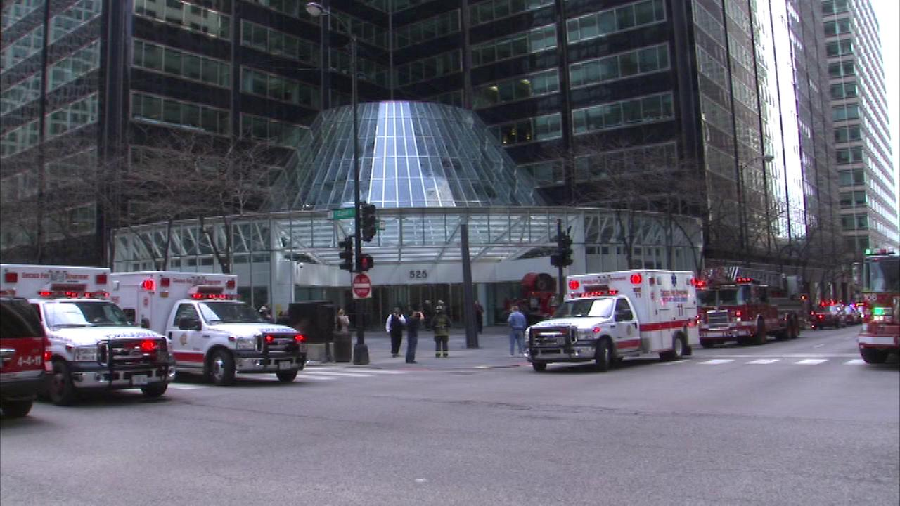 One person was hospitalized after an electrical fire broke out in a high-rise on the citys Near West Side.