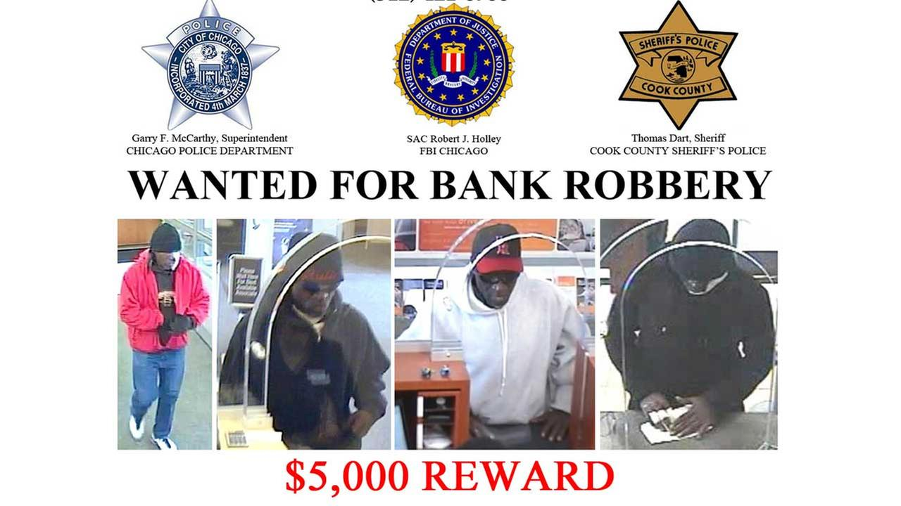 FBI offering $10K reward for alleged 'Bandage Bandit' bank robber