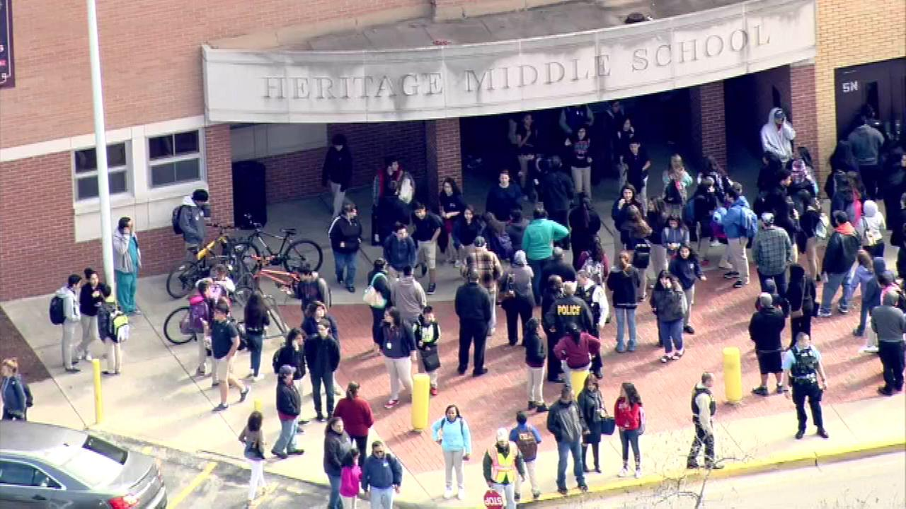 Lockdown lifted at Berwyn schools