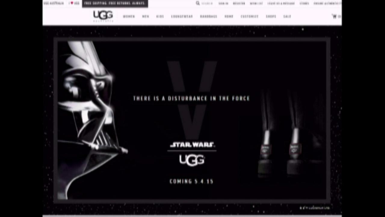 UGG is launching a limited edition Star Wars collection of boots and shoes styled after the imperial uniform worn by Darth Vader.