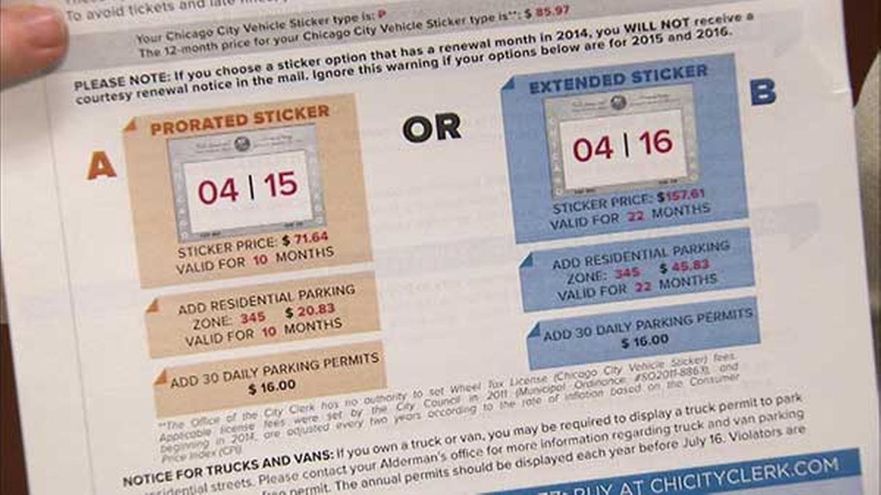 Chicago city stickers to be available year-round
