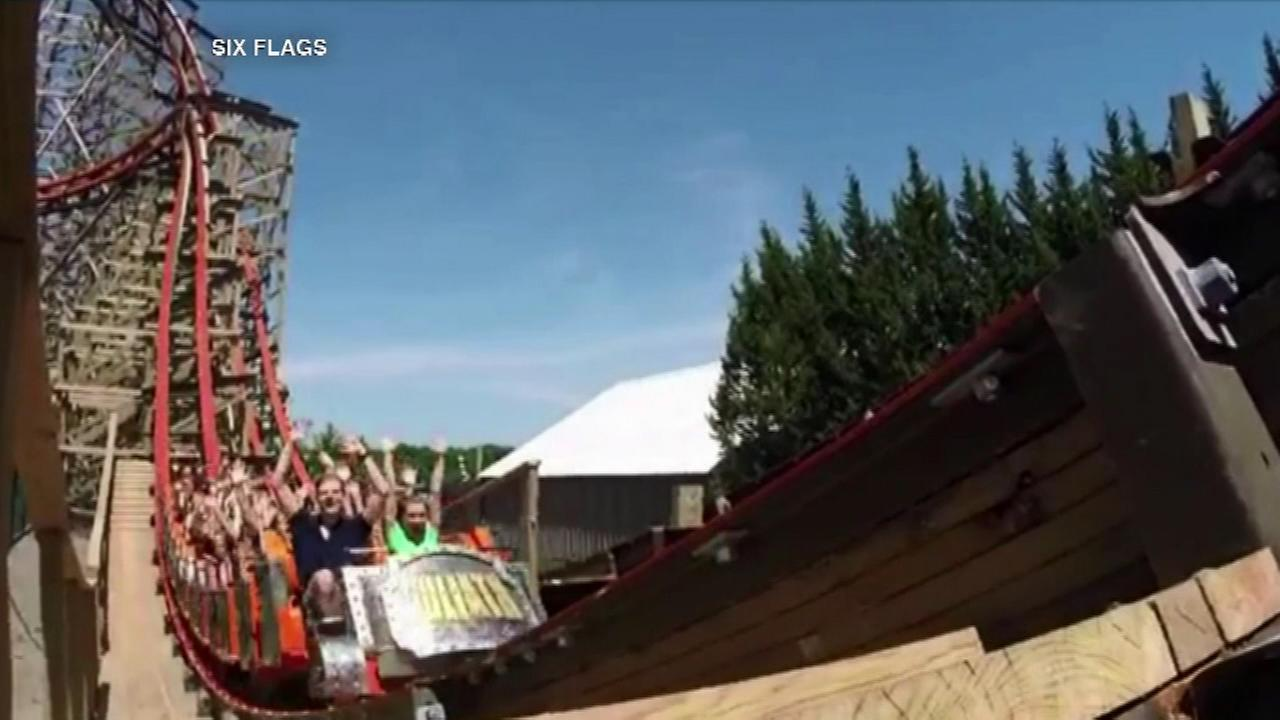 Six Flags' Goliath tallest, fastest, steepest wooden coaster, Guinness says