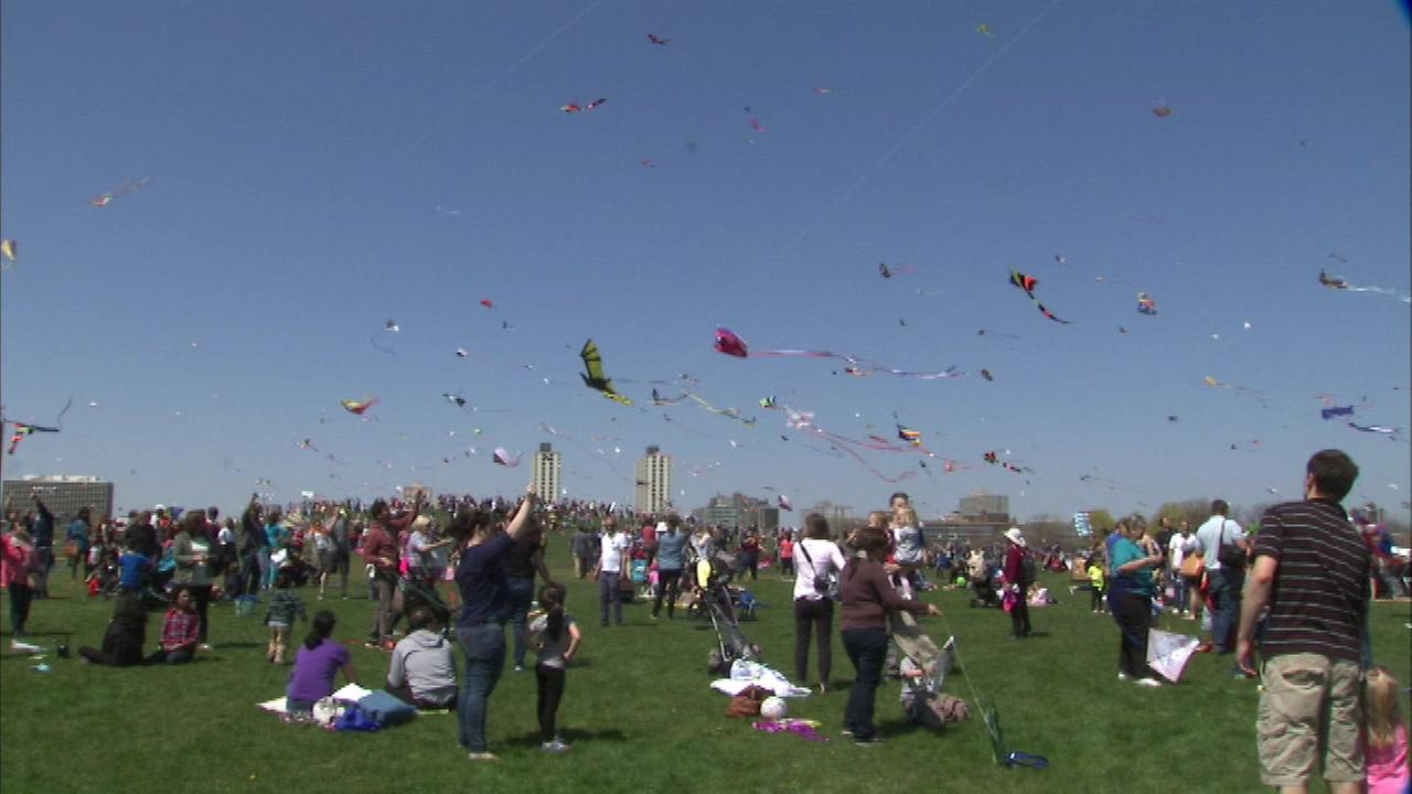 A nice crowd gathered at Montrose Harbor in the citys Lincoln Park neighborhood for the 17th annual Chicago Kids and Kites Festival.