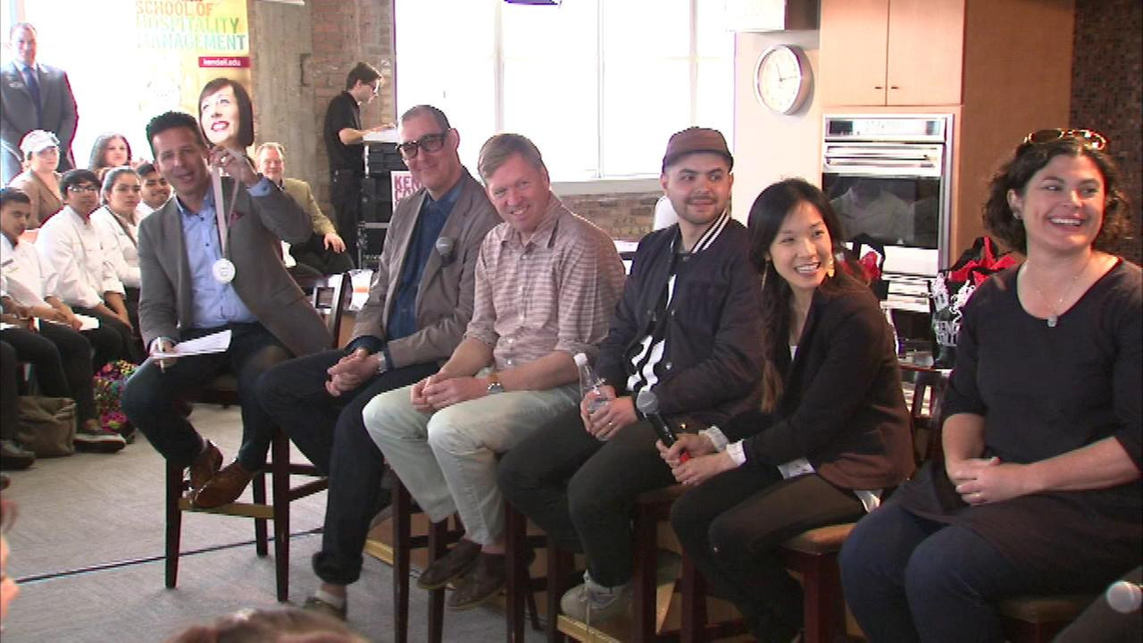 ABC7s Hungry Hound Steve Dolinsky hosted a panel discussion with James Beard Award nominees at Kendall College Sunday.