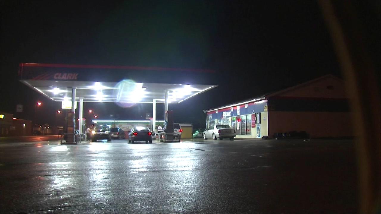 Police in Gary are searching for a group of teens who attacked and robbed a gas station clerk. The man was surrounded by the group as he left work.