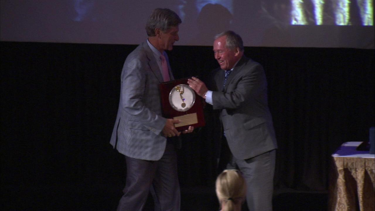 Paul Meincke was one of three ABC7 journalists honored with a Silver Circle Award on Friday night.