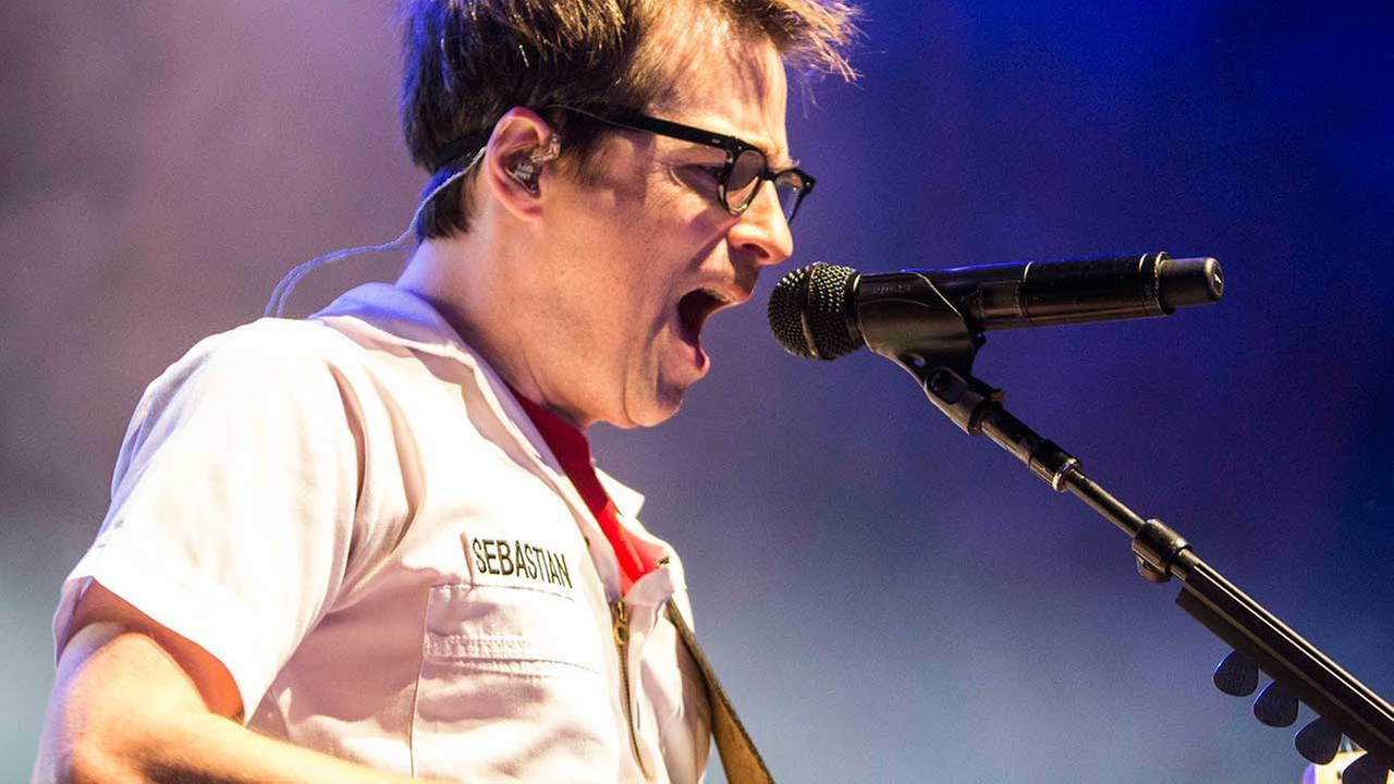(FILE) Rivers Cuomo of Weezer performs at The Tabernacle on Saturday, Dec. 6, 2014, in Atlanta.