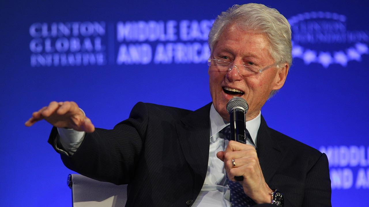 Former U.S President Bill Clinton speaks during a plenary session at the Clinton Global Initiative Middle East and Africa meeting in Marrakech, Morocco, on May 6, 2015.