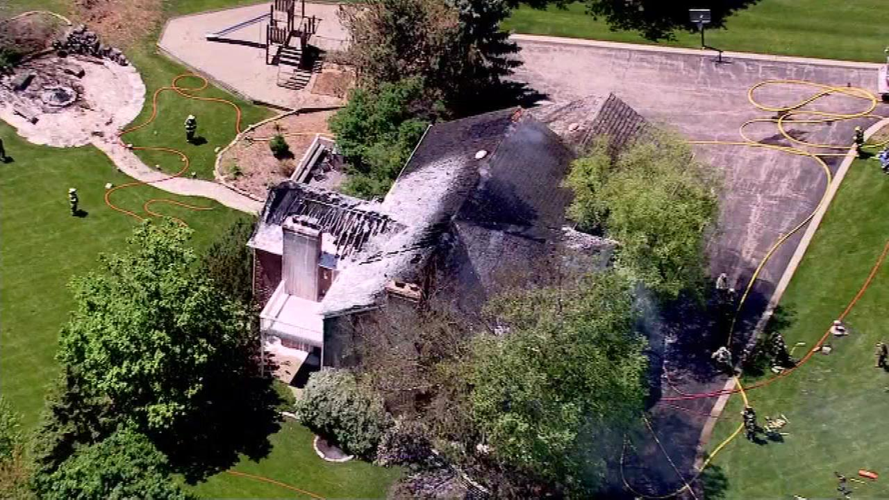 No one injured in South Barrington mansion fire