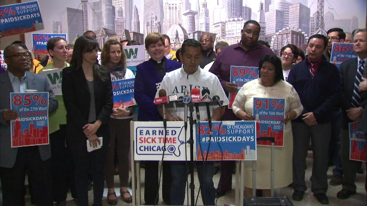 Paid sick days rally held at City Hall