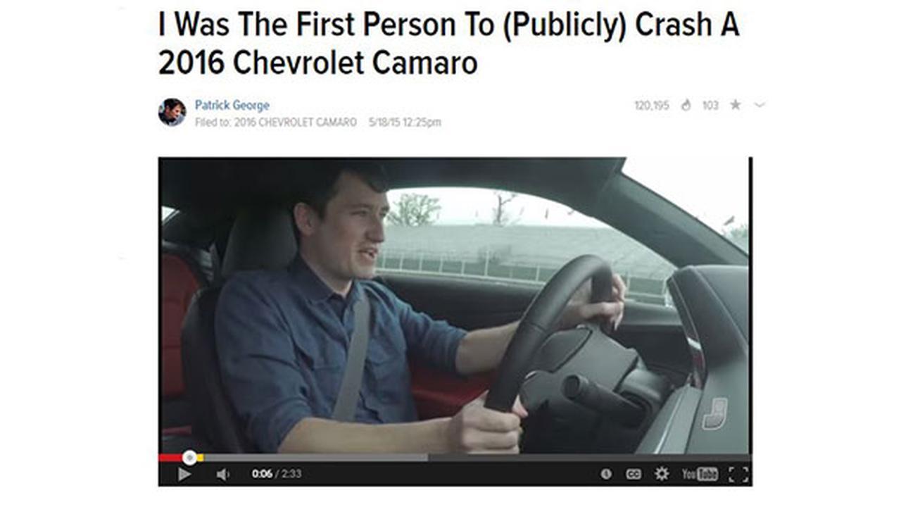 Jalopnik writer crashes 2016 Chevy Camaro