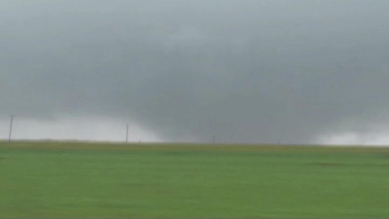 At least one tornado touched down Saturday in the Oklahoma City area.