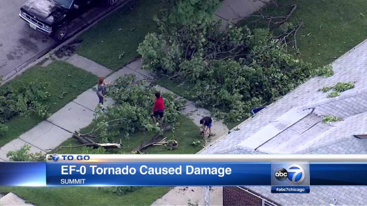EF-0 tornado touched down in Summit, officials say