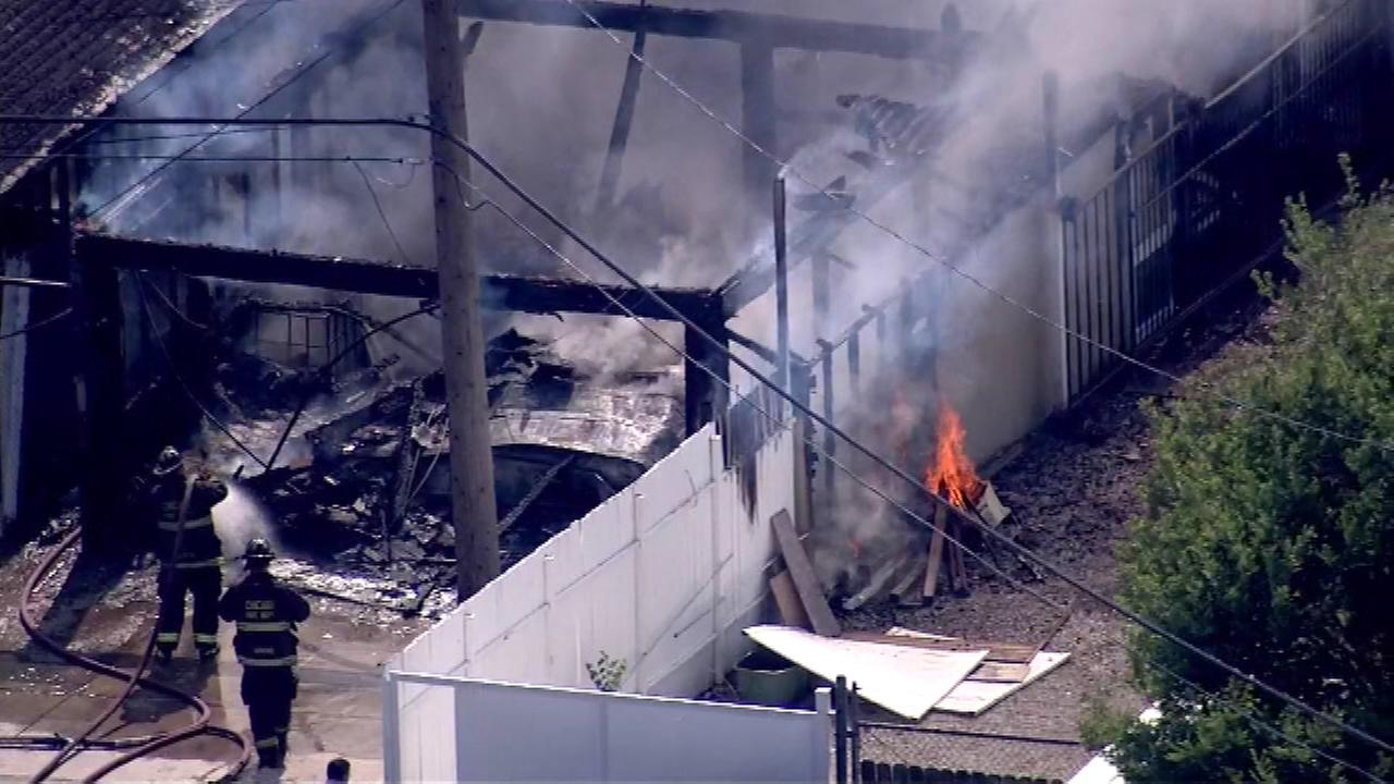 Firefighters are working to put out a fire near 51st and Spaulding in the Gage Park neighborhood.