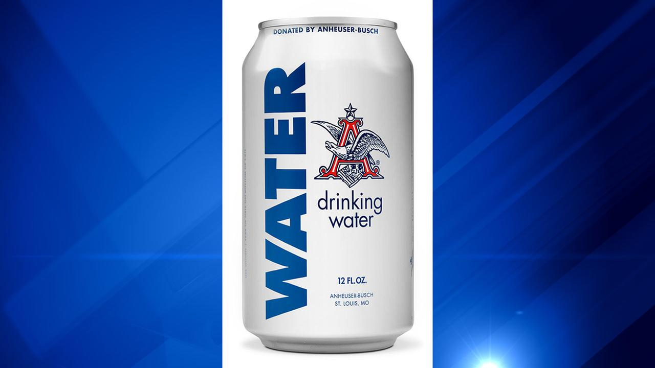 Anheuser-Busch Emergency Drinking Water.