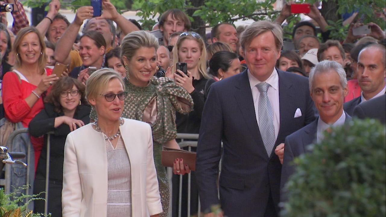 Dutch royals King Willem-Alexander, Queen Maxima visit Chicago and Michigan as part of U.S. trip