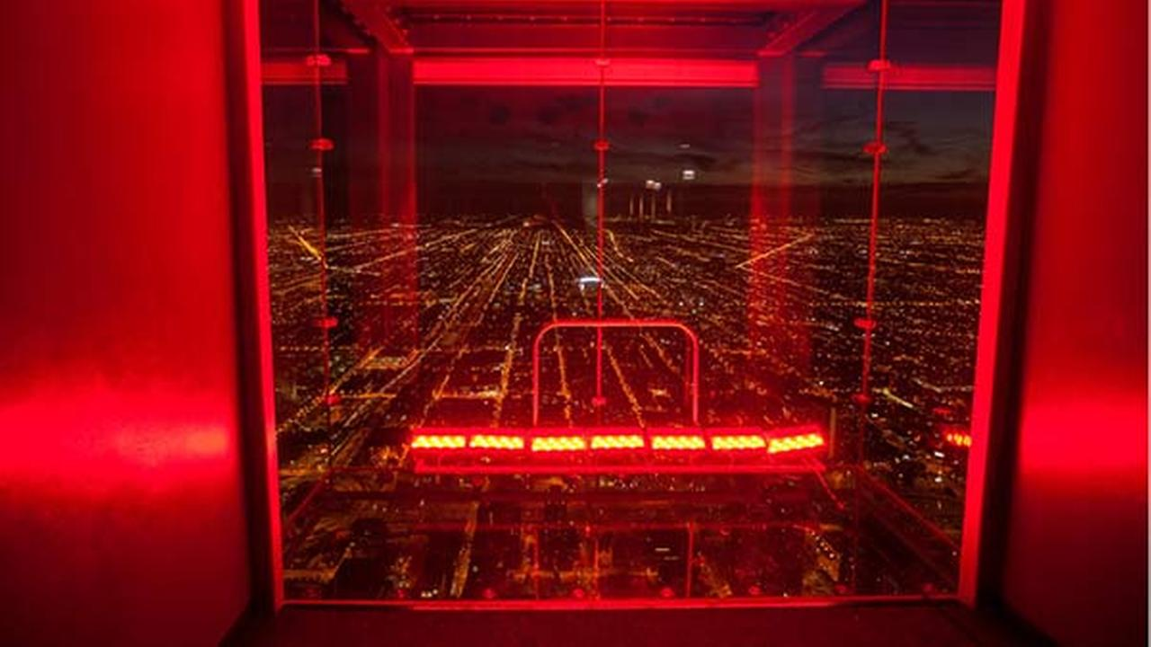 The Ledge at the Willis Tower will be lit up for the first time to celebrate the Chicago Blackhawks entering the Stanley Cup Final.