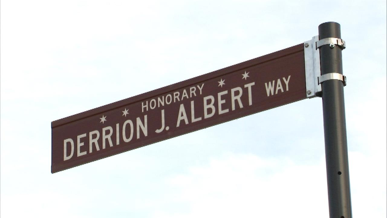 A stretch of West 111th Street in the Roseland neighborhood is named Derrion Albert Way.