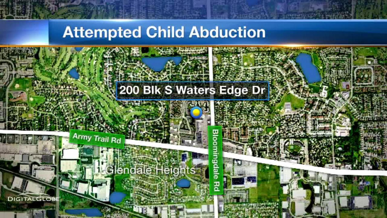 Man tried to abduct girl in Glendale Heights