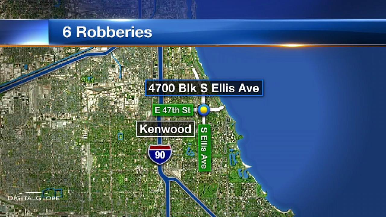 6 people robbed in Kenwood
