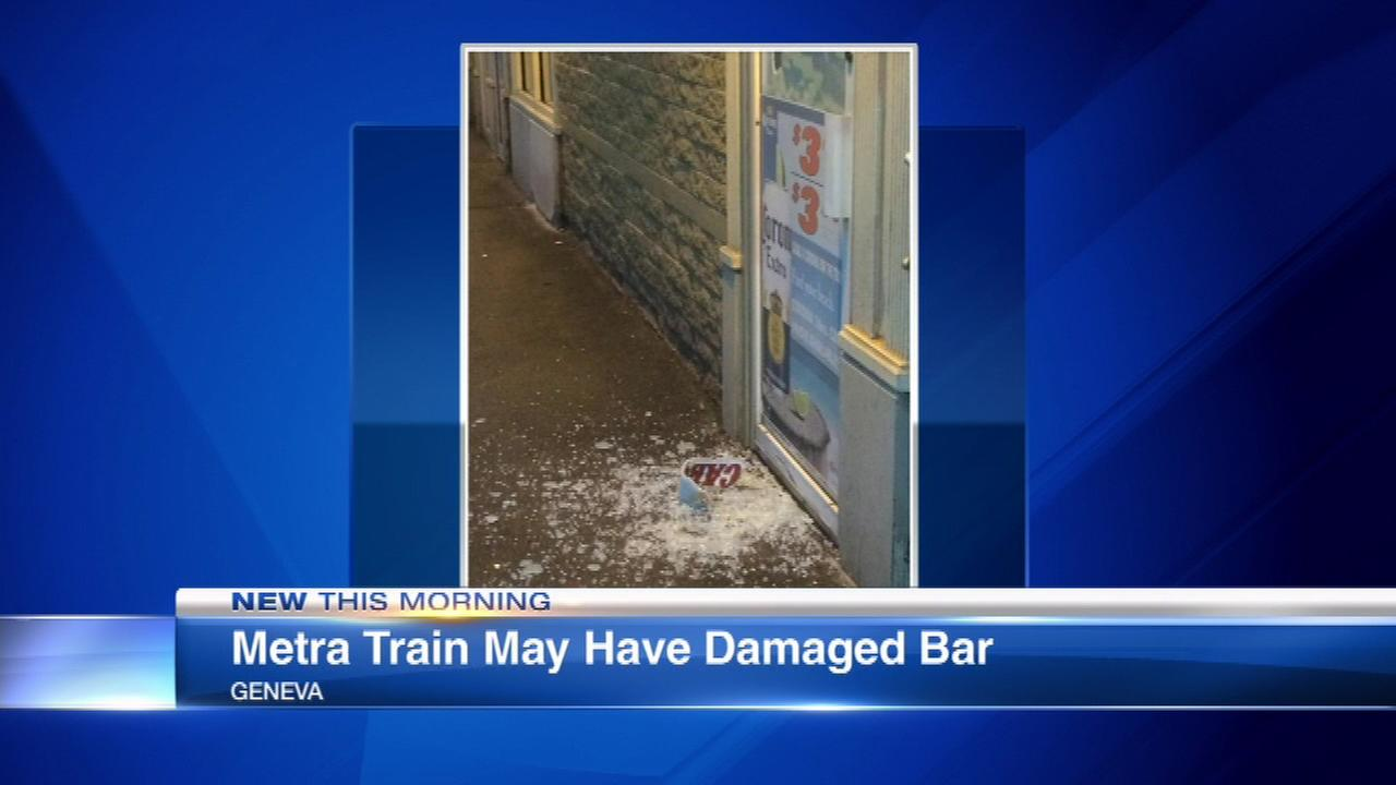 Did a Metra train shatter this door?
