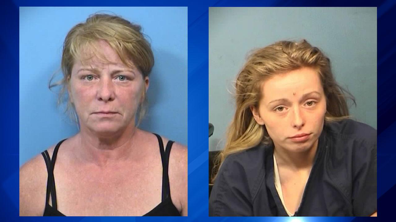Kelly Palermo, 50, of Chicago, (left) and Samantha Palermo, 21, of Elmhurst, (right) were charged Thursday in connection with the stabbing death of their family cat.