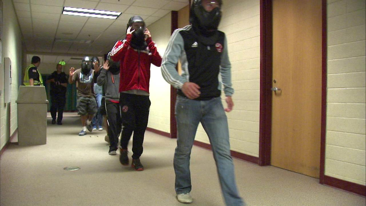 Shooting drill held at Munster high school