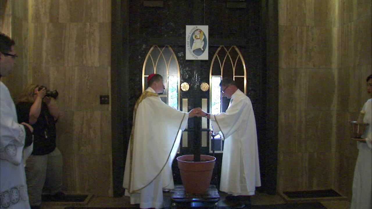 On Friday, Archbishop Blase Cupich blessed and locked the cathedrals N. State Street door to prepare for a special upcoming jubilee year called the Holy Year of Mercy.