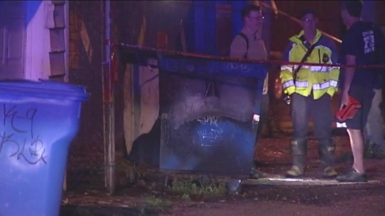 Firefighters find body in burning dumpster
