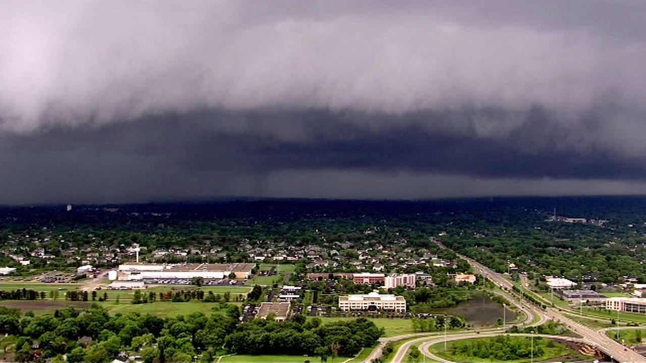 Dark clouds seen by Chopper 7HD Monday afternoon.