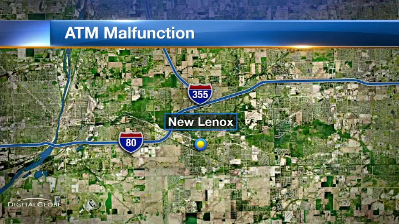 New Lenox ATM hands out extra cash