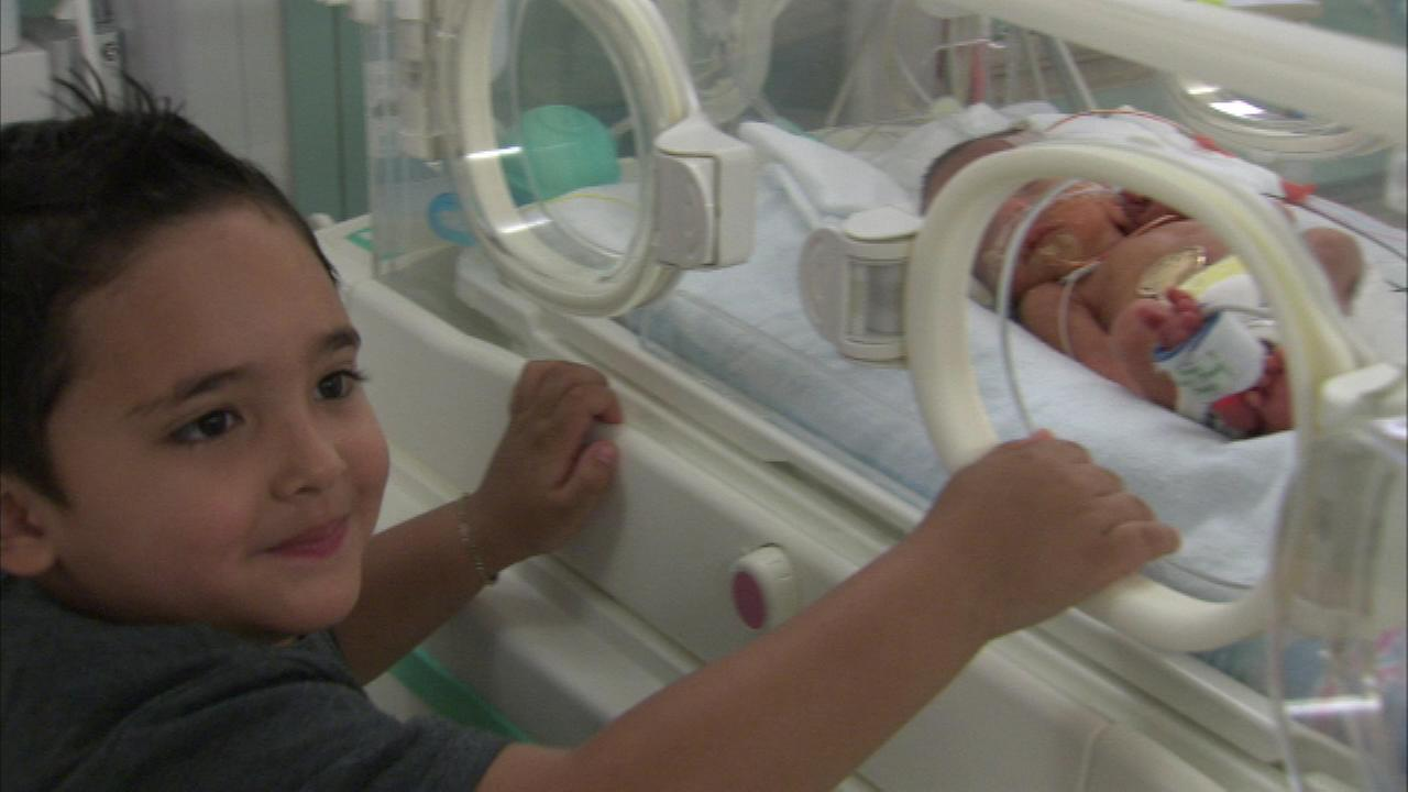 Jonathan Ramos was born several weeks early. He and his brothers were all born during years the team won the Stanley Cup: Dimaggio in 2010 and Elijah in 2013.